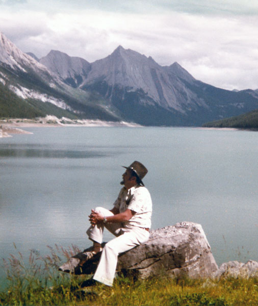 Jacques Bourgeois during trip to western Canada (Rockies)